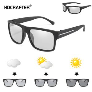 Men Photochromic Polarized Sunglasses Transition Lens Outdoor Glasses New 2019
