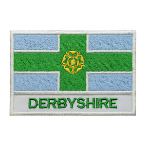Derbyshire County Flag Patch Iron On Patch Sew On Embroidered Patch