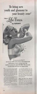 1954 Formfit PRINT AD Women's Underwear Bra Great Boudoir Bath Bedroom Decor