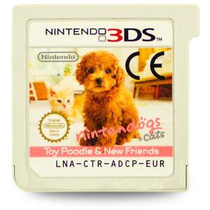 3DS-Jeu-Nintendogs-et-Cats-Caniche-amp-Neuf-Freunde-sans-Ovp-sans-Manuel
