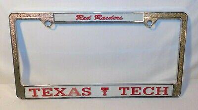 """Texas Tech Red Raiders TT TX Football 6/""""x12/"""" Aluminum License Plate Tag"""