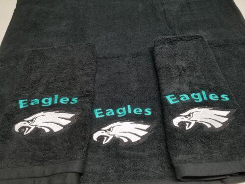 Philadelphia Eagles Football Towel Set Personalized Sports Team Towel Sets