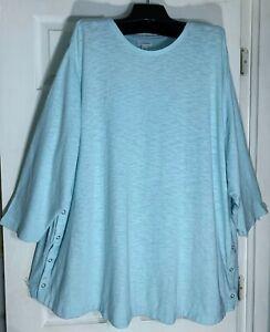 J Jill women easy V neck Tee shirt Top Plus size 2X 100/% Pima cotton Purple New