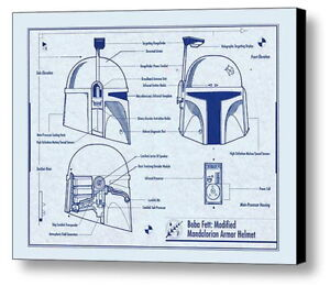 Image Is Loading Framed Star Wars Boba Fett Helmet 8 5X11