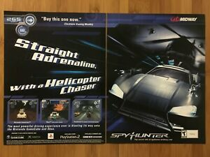 Spy-Hunter-PS2-Playstation-2-2002-Vintage-Poster-Ad-Art-Print-Promo-Racing-Rare