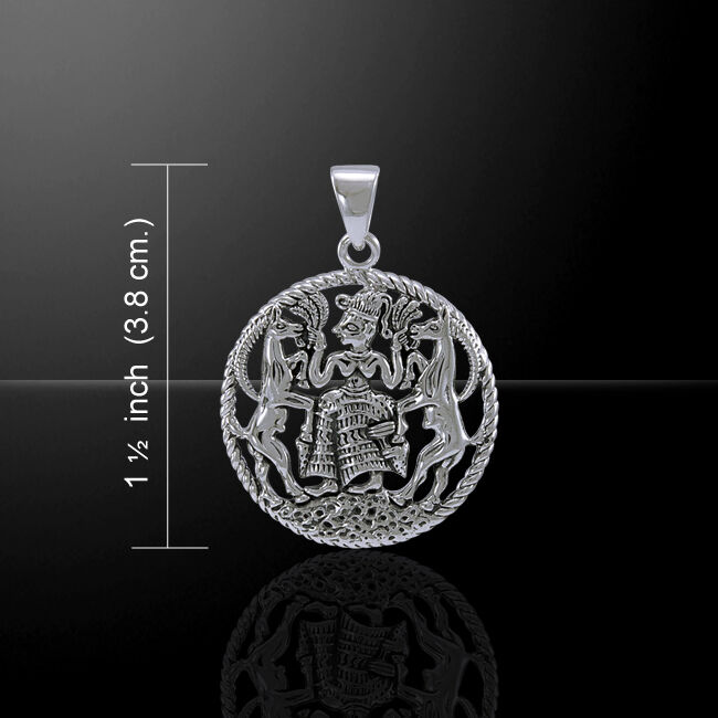 Oberon Zell Gaia Mother Earth .925 argent sterling Pendentif Peter Stone bijoux