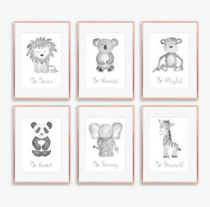 Neutral-Grey-Safari-Animal-Baby-Nursery-Prints-Childrens-Bedroom-Pictures-Decor