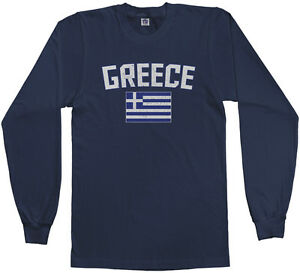 Details about Threadrock Men s Greece Flag Long Sleeve T-shirt Athens Greek  Europe Pride d54f17a2b15