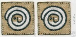 """2.25"""" Curl Face Tribal Ethnic embroidery patch"""