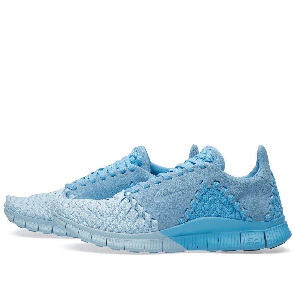Men's Nike Free Inneva Woven ll SP Running Shoes Blue/Ice 813040 440 Sz 8