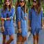 Damen-Jeanskleid-Hemdkleider-Langarm-Minikleid-Longshirt-Denim-Tunika-Gr-34-44 Indexbild 2
