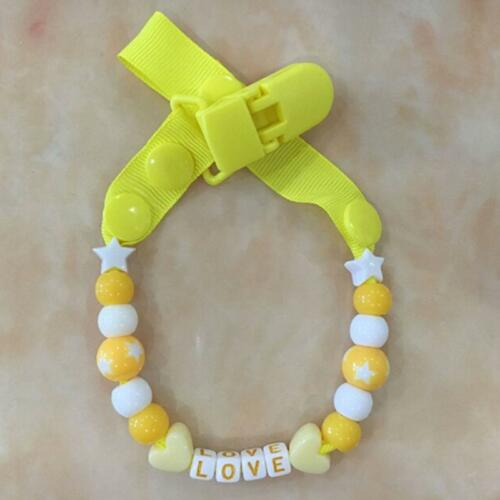 Toddler Baby Hand Made Dummy Pacifier Clip Chain Holder Soother Nipple Strap Y2