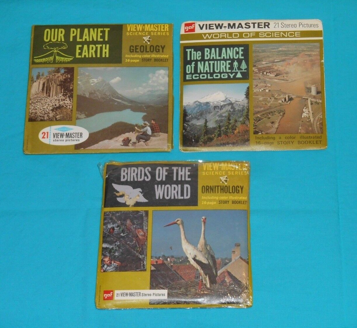 SCIENCE VIEW-MASTER REELS LOT Our Planet Earth THE BALANCE OF NATURE Birds World