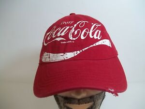 00af360b630 Image is loading Enjoy-Coca-Cola-Adjustable-Red-Baseball-Hat-Cap-