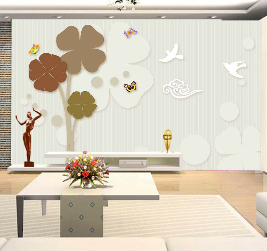 Delicate Pulpy Lily 3D Full Wall Mural Photo Wallpaper Printing Home Kids Decor