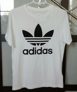 good selling crazy price details for Details about Adidas Originals Trefoil Tee Boys T-shirt White Size L 13-14  years old