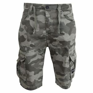 a2f5d54d13 Image is loading Mens-Cargo-Shorts-Crosshatch-Army-Camo-Utility-Three-