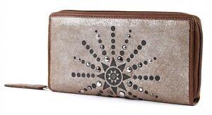 Banani Neu Geldbörse With Metallic Silber Bruno Zip Braun Cognac Glamour Wallet vnxXZdS