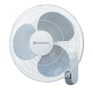 Comfort-Zone-CZ16W-Oscillating-16-034-3-Speed-Wall-Mount-Fan