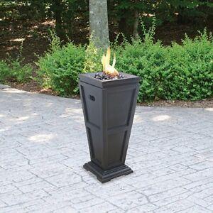 Column Fire Pit Outdoor LP Propane Gas Patio Heat Yard ...