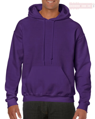 Purple Gildan Plain Hooded Heavy Blend Sweatshirt Pullover mens hoodie