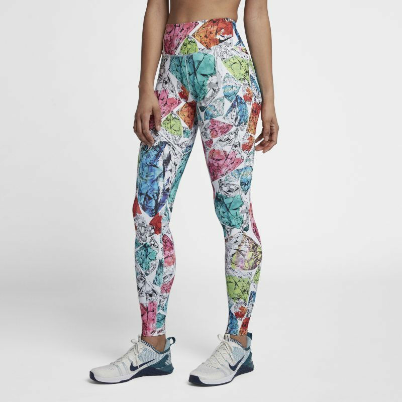 NIKE Power Women's Mid Rise Training Tights AH3914 101 Multi-Coloured - SMALL
