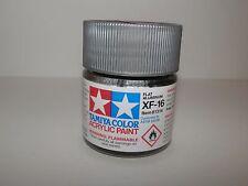 Tamiya Color Acrylic Paint Flat Aluminium #XF-16 (23 ml) NEW
