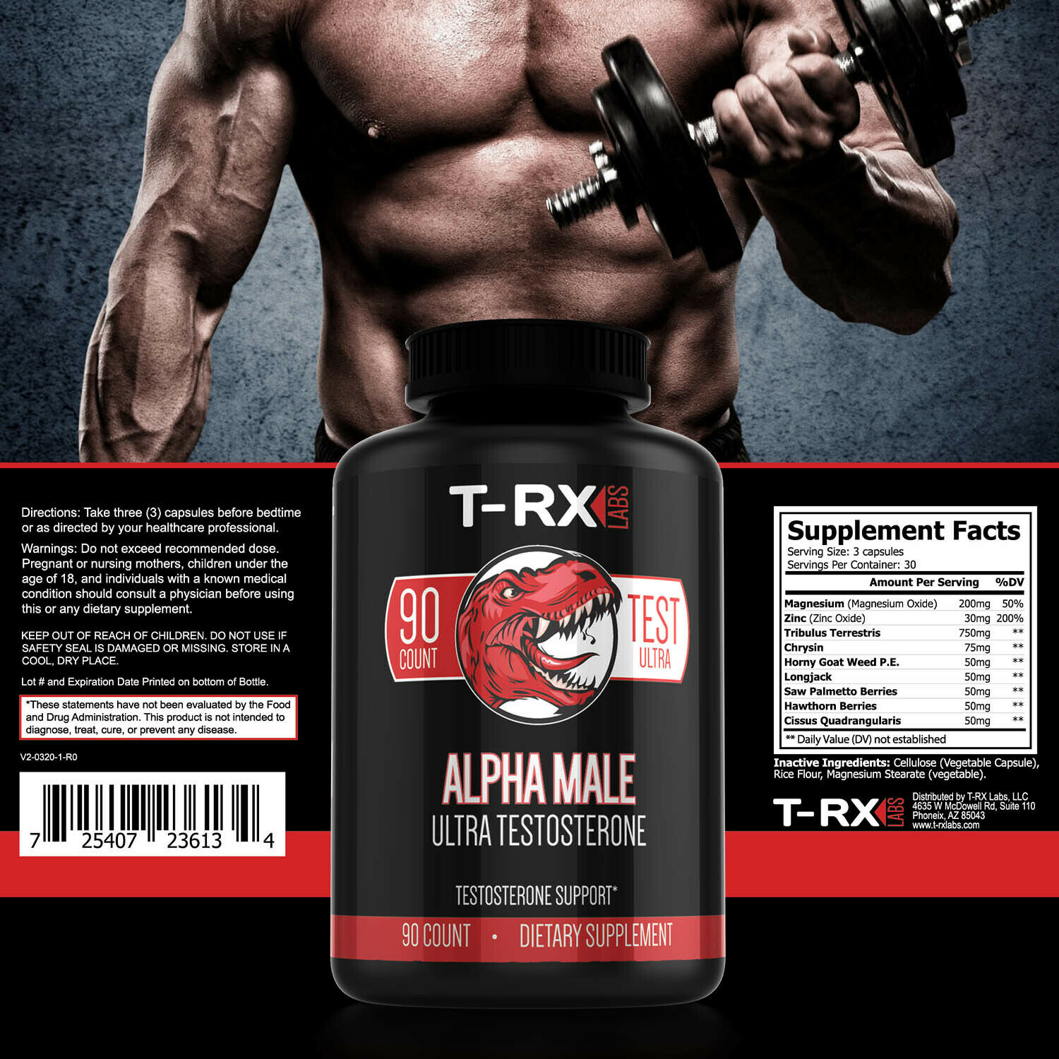 T-RX Testosterone Booster for Men More Muscle Mass Strength Stamina Sex Drive eBay