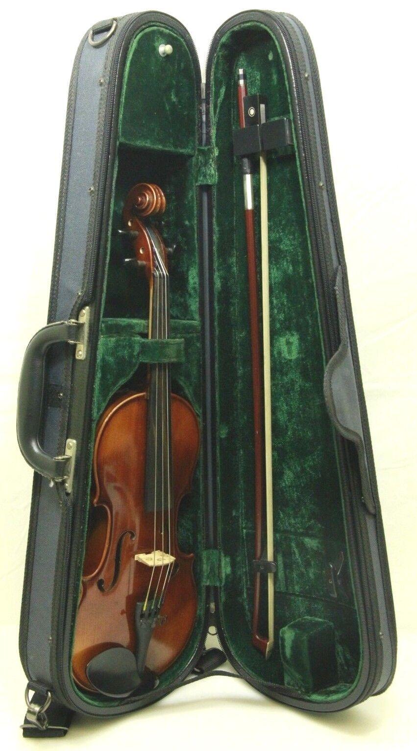 2008 H.K. Schmidt Modelo 275  13111V 1 1 1 4 Violin Con Arco Y Estuche-Envío Gratis  descuento