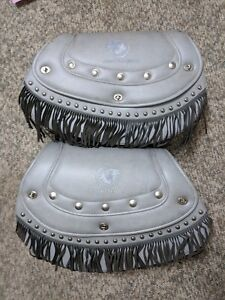 2000 gilroy indian chief silver cloud rare oem saddlebags. Black Bedroom Furniture Sets. Home Design Ideas