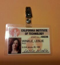 The Big Bang Theory ID Badge- Dr. Leslie Winkle prop costume cosplay