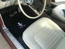 NEW! 1964-73 Ford Mustang Black Floor mats 4piece set embroidered logos