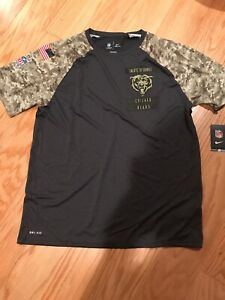 ee39eaed Details about Nike NFL Men's Chicago Bears Salute To Service Performance  T-shirt 809282 M