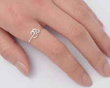 Silver Tiny Om Sign Ring Sterling Silver 925 Best Deal Plain Jewelry Size 4