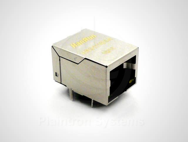 RJ45 Ethernet-Buchse Netzwerk 8P8C mit Übertrager + LED HR911105A ähnl. MagJack