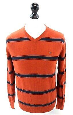 Avere Una Mente Inquisitrice Tommy Hilfiger Da Uomo Maglione Pullover S Small Arancione Strisce Blu Cotone-mostra Il Titolo Originale Long Performance Life