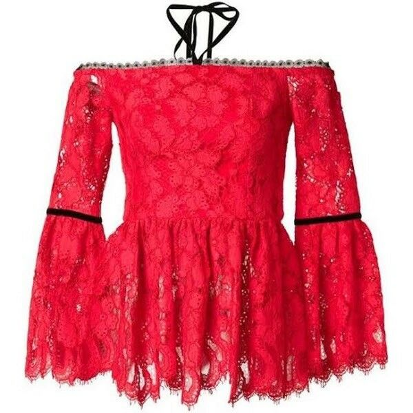 Amazing   Sold Out Alexis XS Bright rot Lace Top Off The Shoulder, NWT