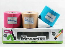 SPOL 3 Rolls 5CMx3.5M Kinesiology Sports Elastic Tapes Muscle care Therapeutic