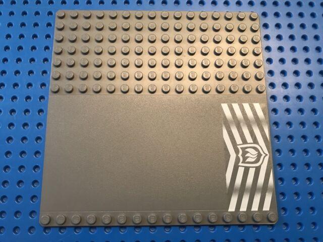 1 x LEGO 91405 Plaque (gris foncé) Base Plate 16x16 (dark grey gray) Pompier