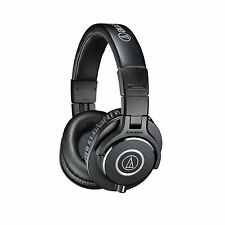 Audio Technica ATH-M40x Headphones-Black-Detachable Cable- Foldable - Headband