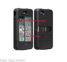 OEM Case-Mate Tank Rugged Case W/ Holster Clip For Apple Iphone 4/4S 4G Black