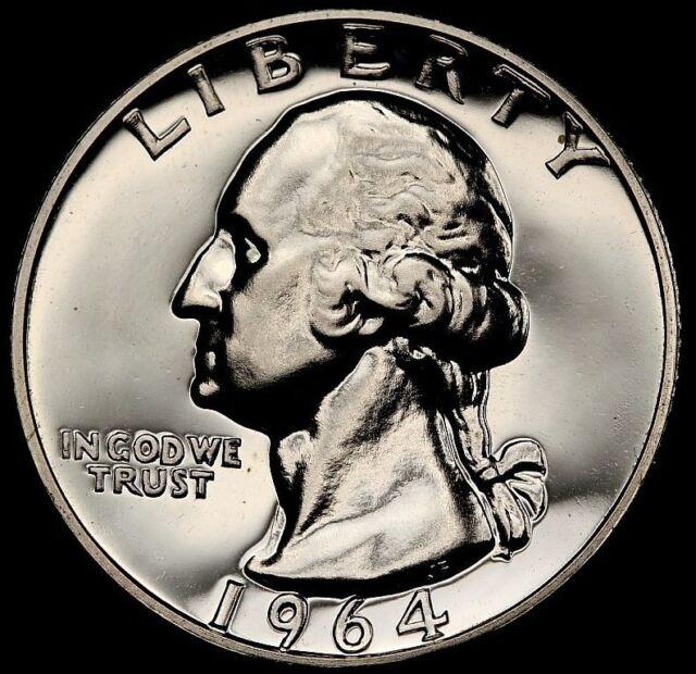 1964 SILVER WASHINGTON QUARTER PCGS GRADED 25C PROOF COIN LIBERTY PR 68+ PR68