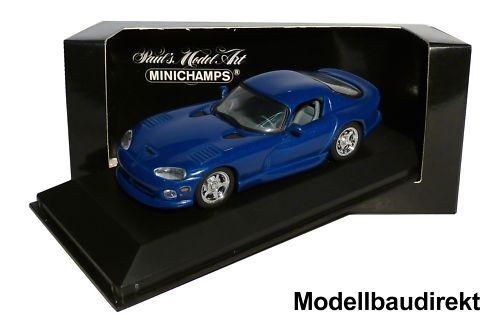 Dodge viper gts in blau bj 1993 1 43 minichamps 430144021 neu & ovp