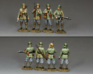 King And (&) Country Fw232 L'ensemble Sturmtruppen (ensemble 4 figures)
