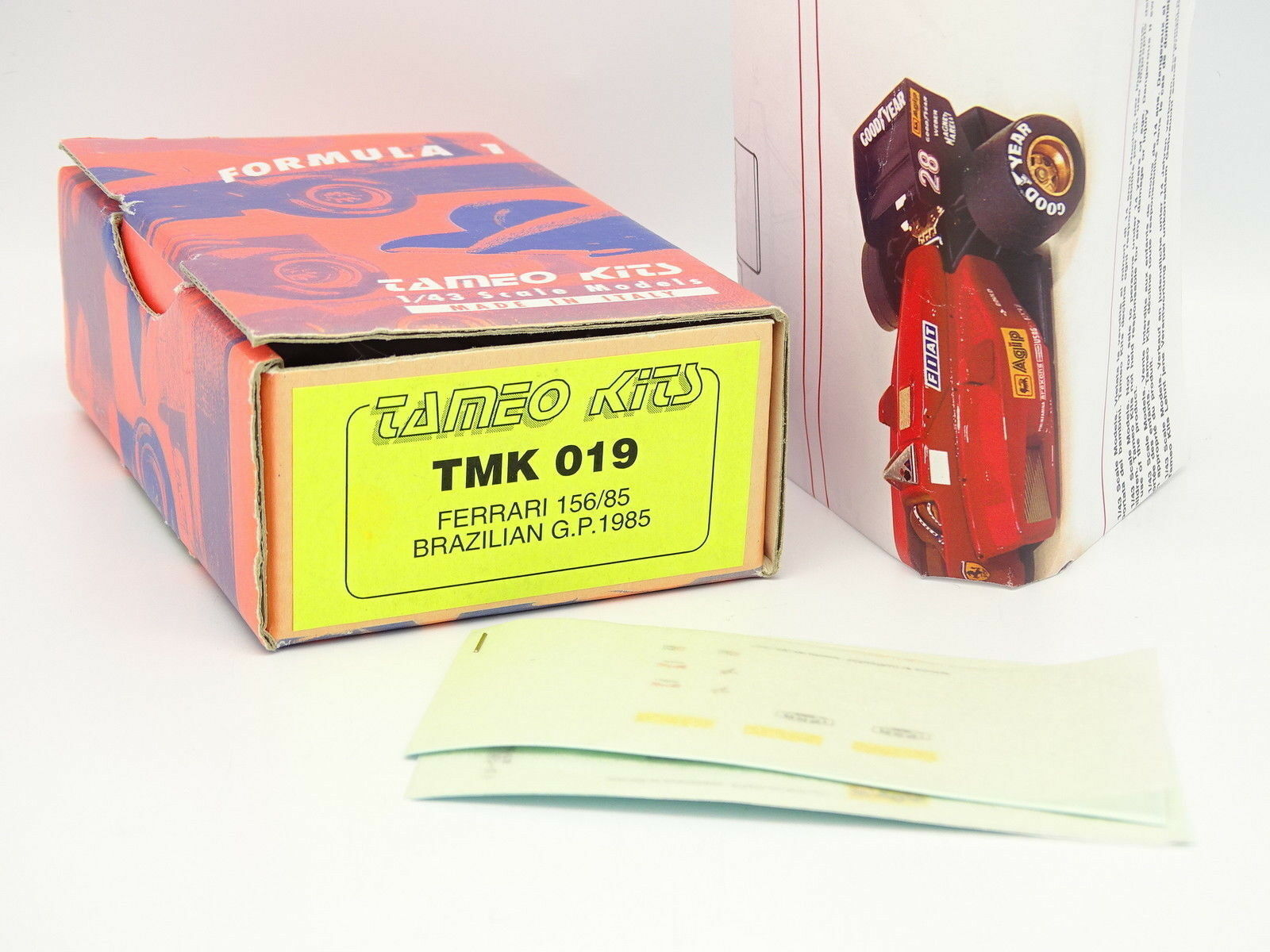 Tameo Kit para Montar 1 43 - F1 Ferrari 156 85 Brasil Gp 1985 TMK019