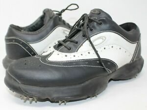 Oakley Black White Leather Wingtip Lace