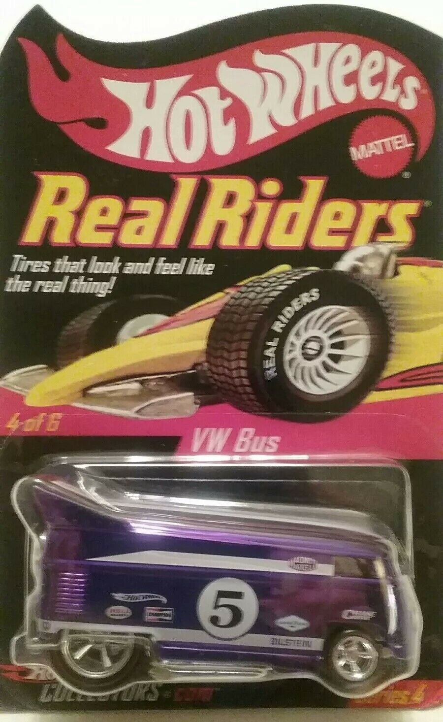 Hot Wheels VW Volkswagen Drag Bus RLC HWC Series 4 Real Riders PURPLE 2004