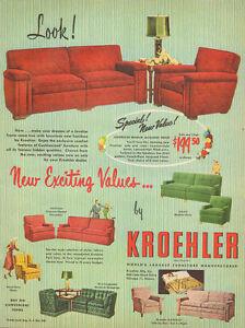 1950 vintage furniture AD KROEHLER Living room sets Sofas ...