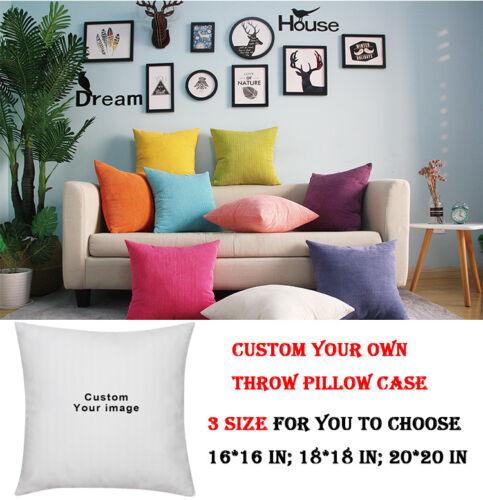 Union Jack UK Flag Throw Pillow Cover Sofa Car Decor Cushion Case 16-20/'/' Custom