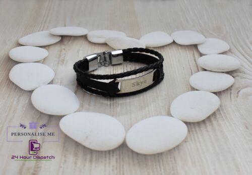 Personalised Name Ladies Bracelet Birthday Custom Stainless Gift Heart Thank You